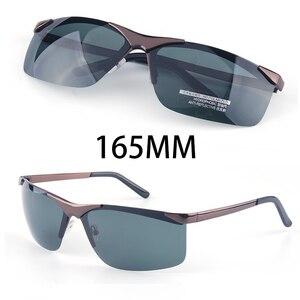 Image 1 - Мужские большие солнцезащитные очки Vazrobe, поляризационные очки без оправы с широкой оправой, 165 мм, для вождения, спорта