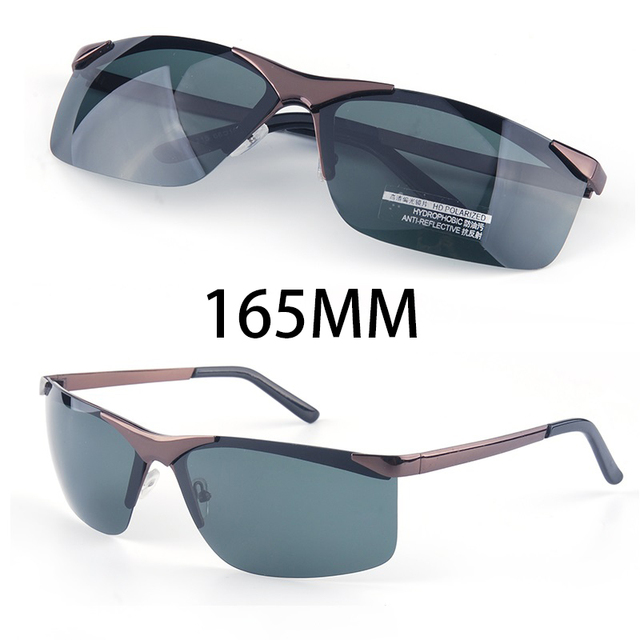 Мужские большие солнцезащитные очки Vazrobe, поляризационные очки без оправы с широкой оправой, 165 мм, для вождения, спорта