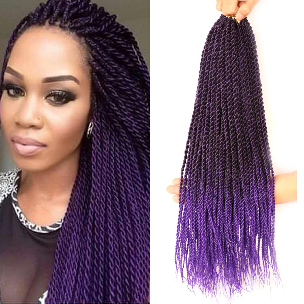 """Mtmei Hair 18"""" Senegalese Twist Crochet Hair Extensions Senegalese Twist  Braiding Hair Extensions Havana Mambo Twist Hair"""