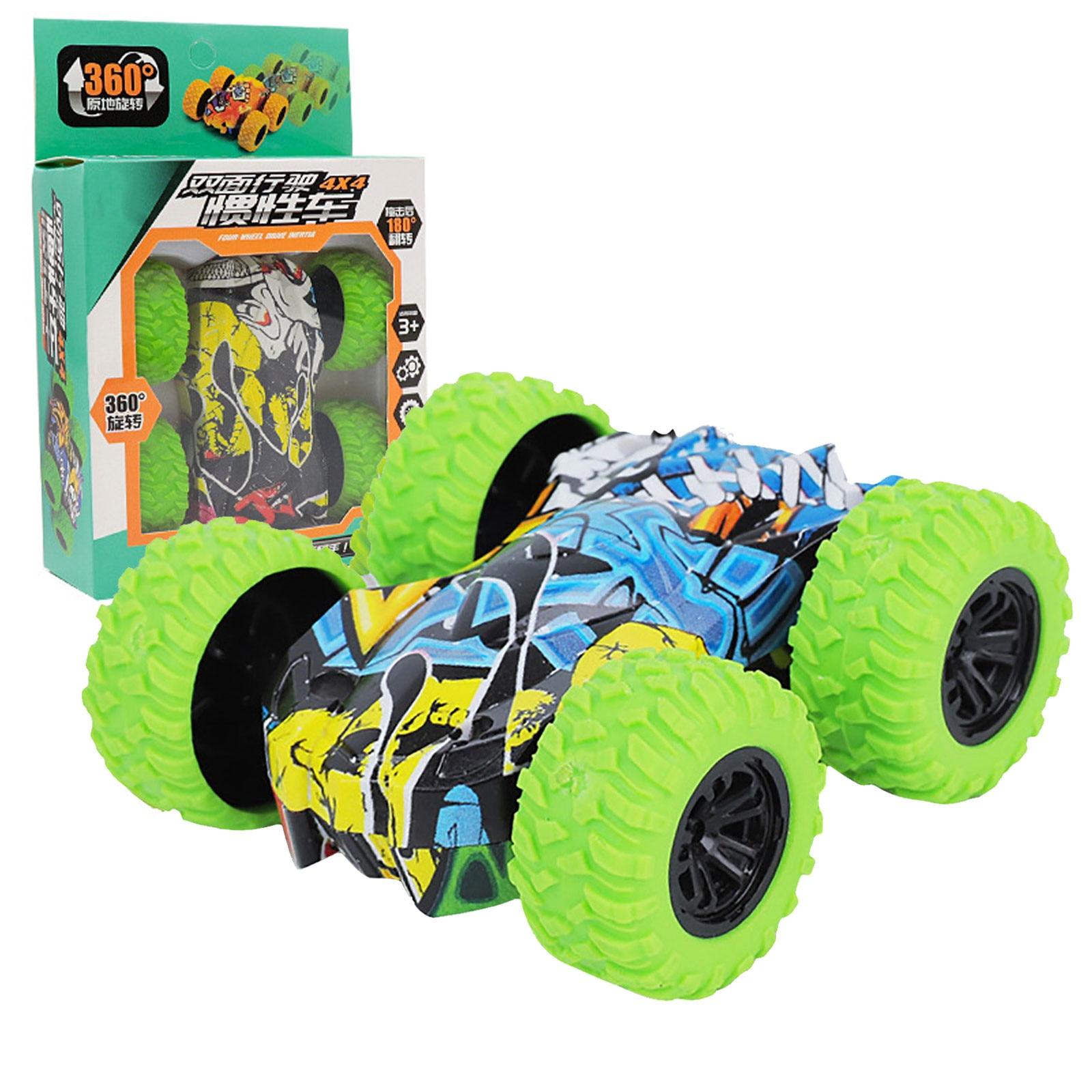 Игрушки для детей, инерционная двухсторонняя трюковая машина-граффити, модель внедорожника, автомобиль, детская игрушка, подарок, Коллекци...