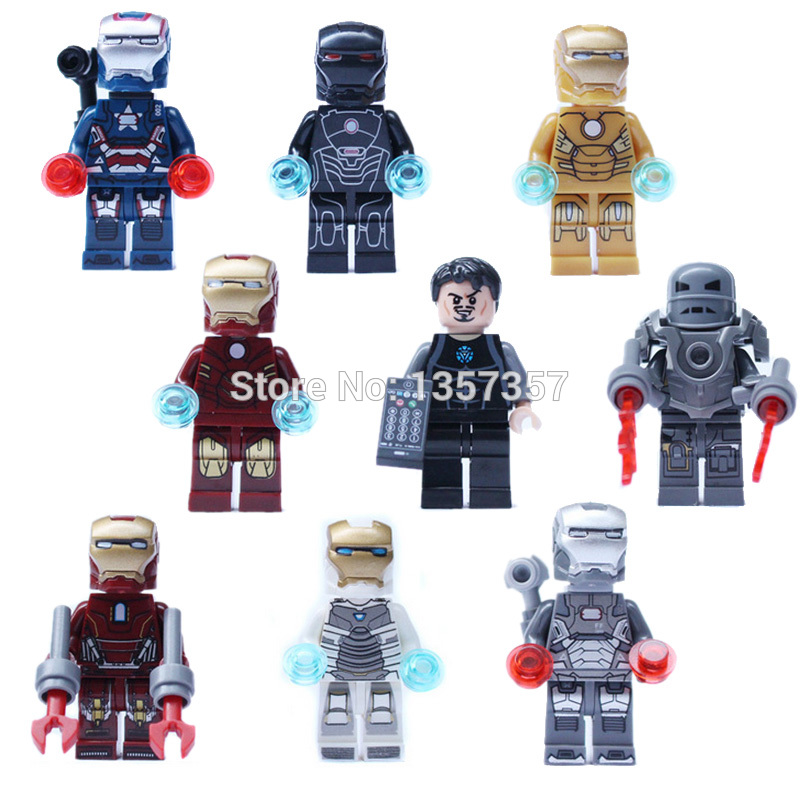 Single Sale Marvel Iron Man Figure Tony Stark The Avengers Building Blocks Super Hero Avengers Set Models Bricks Toys