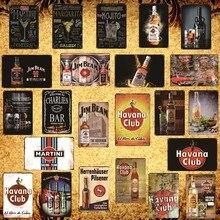 [Luckyaboy] Retro de la Habana Club Mojito Martini Margarita carteles de Metal cartel Vintage placa con inscripción para Bar Club tienda de café decoración AL037