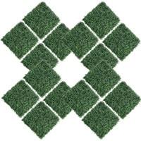 16pcs Artificial Garden Grass, Artificial Grass Lawn60*40cm Miniature Ornament Garden Dollhouse DIY Grass