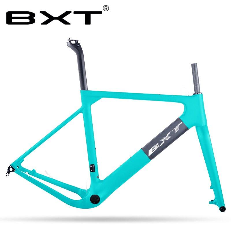 New Mountain Gravel Bike Frame 100*15mm Gravel Fork  Disc Carbon MTB/Road Racing Bike Frame Internal Cable Tapered Tube Frame