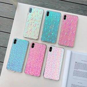 Image 1 - 60 pcs/lot Fille Paillettes Couverture Arrière Souple pour iphone XS MAX X XR 11Pro 7 8 Plus changement couleur Mignon Bling TPU, MYL PFB9