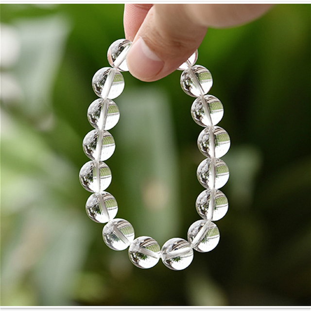 Natural Crystal 0.8cm  Rock Crystal White Quartz Beads Tibetan Buddha Prayer Mala Bracelet For Woman Buddhist Jewelry