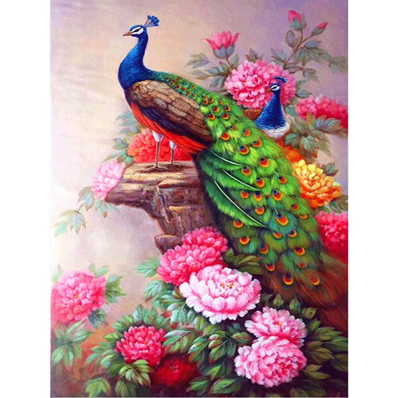 LZAIQIZG Full Drill Diamond Painting Beautiful Peacock 5d Diamond Embroidery Sale Diamond Picture Of Rhinestones Home Decor Gift