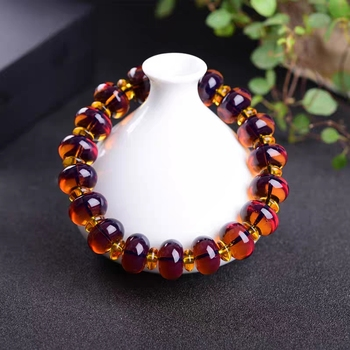 13mm 16mm Natural Burma Blue Amber Beads Bracelet Violet Wax Abacus beads Women Men Crystal Fashion Reiki Stone AAAAA