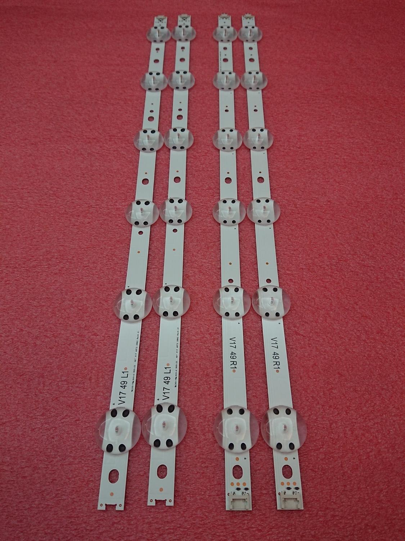 4 PCS/set LED strip For LG 49UV340C 49UJ6565 49UJ651V 49UJ670V 49UJ701V V17 49 R1 L1 ART3 2862 2863 6916L-2862A 6916L-2863A