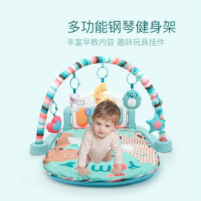 Safe Baby Play Mat Gym Mat Activity Playmat Carpet Piano  Educational Baby Activity Gym Christmas Rattles Toys for Children A5A