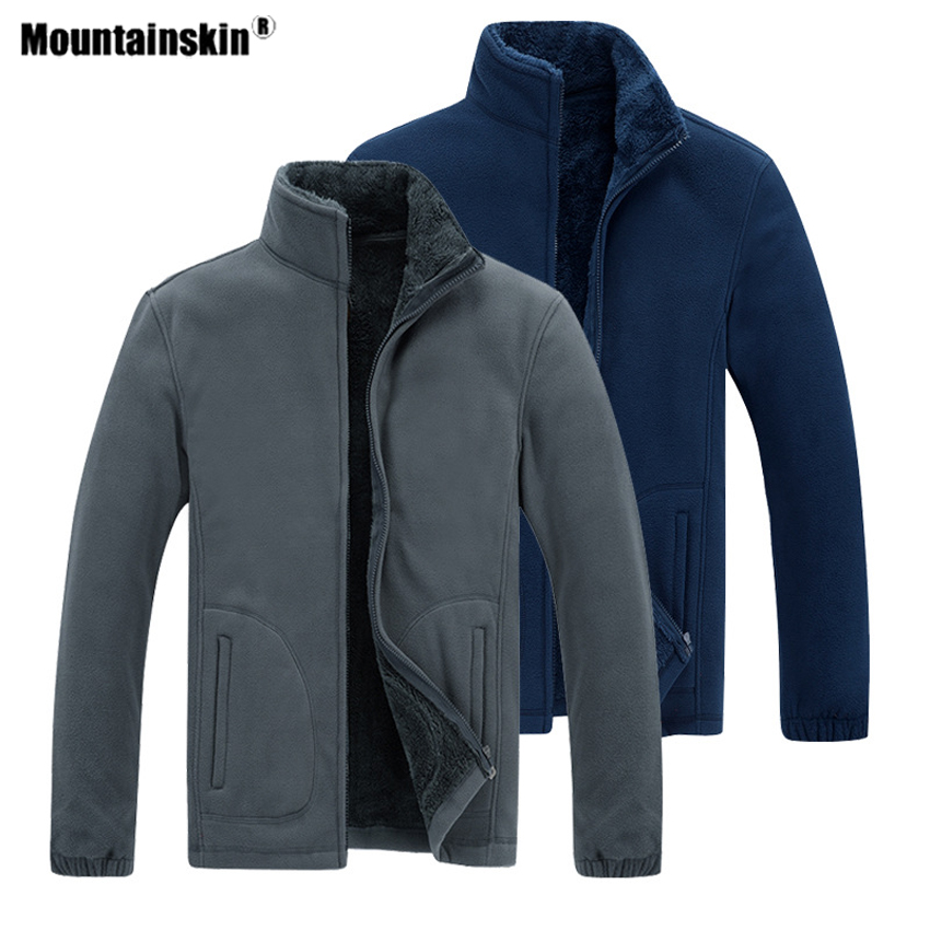 Mountainskin Winter Men's Hiking Fleece Jackets Outdoor Sports Windbreaker Camping Climbing Trekking Skiing Male 7XL Coats VA686|Hiking Jackets| |  - title=