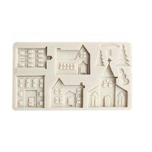 3d рождественский дом силиконовые формы инструменты для украшения