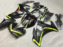 Nowy zestaw do przewijania motocykli ABS pasuje do Yamaha YZF-R3 YZF-R25 2015 2016 2017 2018 15-18 zestaw karoserii custom Cool Black tanie tanio arcekist Wtrysku 100 ABS Same photo show Yamaha YZF R3 R25