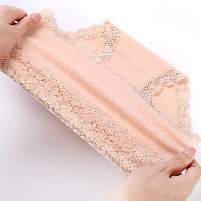 5Pcs/Set High Waist Women Panties Soft Cotton Seamless Sexy Lace Women Comfort Underwear Body Shaper Female Breathable Lingerie 5