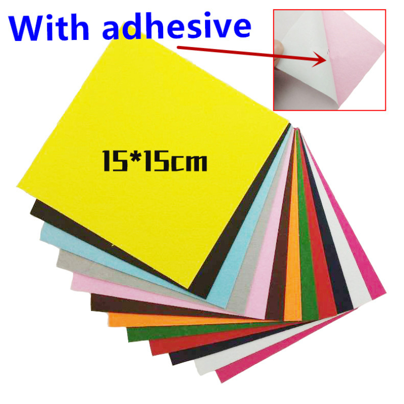 1pc 20*30cm Colorful Self Adhesive 1MM Felt Pads For Furniture Floor Scratch Protector DIY Furniture Doll Toys Crafts Decoration