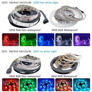 Image 4 - Bluetooth Led Strip Licht Rgb 5050 Smd 2835 Flexibele Lint Fita Led Light Strip Rgb 5M 10M 15M Tape Diode DC12V 60LED/M + Adapter