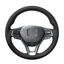 For Honda Accord 10th Black artificial leather hand-sewn steering wheel cover new for power steering pump honda accord 2 4 56110 r40 a01 56110r40a01 56110raaa03 for honda power steering pump
