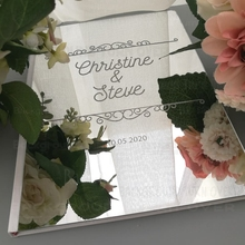 Guest Book Signature Decor Wedding Guestbook Personalized Cover Gift Gifts Custom Mirror For Guests Vintage Royal Retro G016