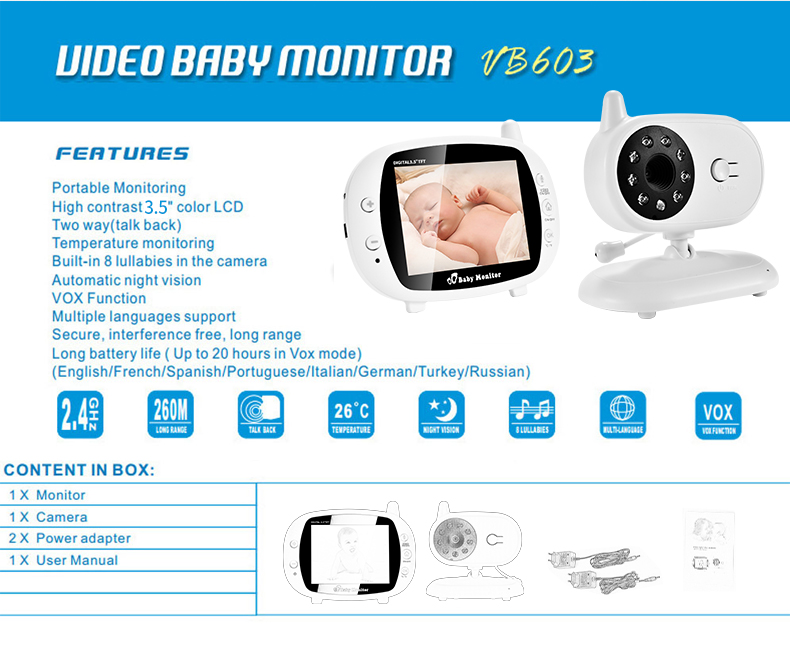 3 inch Baby Monitor With Security Night Vision Camera And a Voice Call For child Security 29