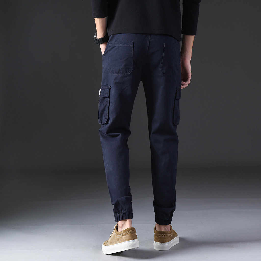 Спортивные штаны, брюки для бега, мужские Модные длинные штаны, мужские крутые летние штаны для отдыха, многокарманные Комбинезоны на весну M-4XL