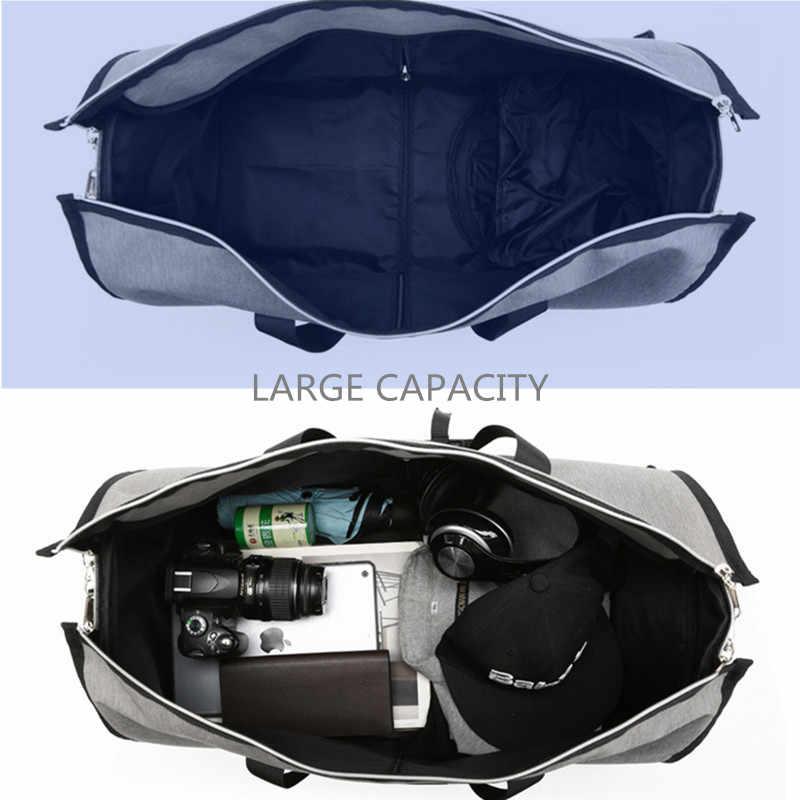 Ozuko Multifungsi Pria Perjalanan Tas Pria Tas Travel Tas Ransel Pria Kapasitas Besar Tas Bahu Tas Back Pack untuk Suit