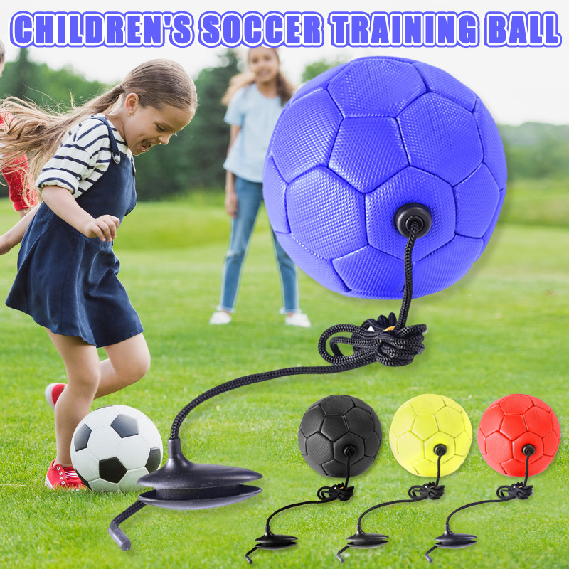 Soccer Training Ball Football With Rope Practice For Children Kids Beginner Trainer FOU99