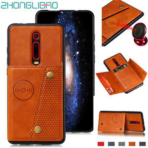 Redmi K20 Pro Card Holders Wallet Case for Xiaomi K20 Mi 9t Mi9t Xiomi Redmi 7a Note 8 7 Pro 8T Leather Car Magnetic Stand Cover(China)