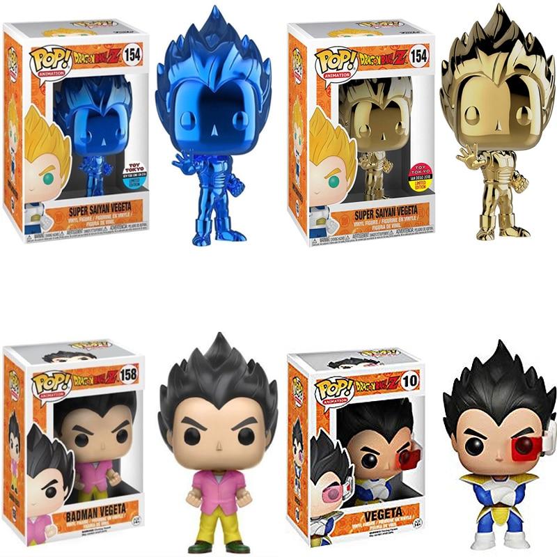FUNKO POP Dragon Ball Z Vegeta Plating Vinyl Dolls Action Figure Collection Model Figure Toys For Kids Christmas Gifts