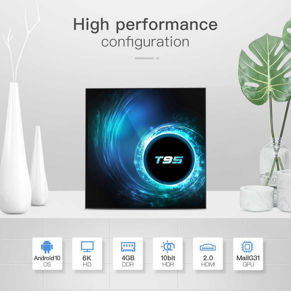 Nuovo T95 H616 Quad Core TV Box Android 10 2.4G Wifi 6K HDR Google Assistente Vocale 2GB 4GB Set Top Box Media Player TV Ricevitore