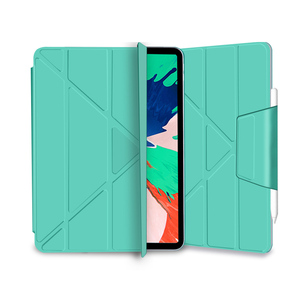 Image 5 - for iPad Pro 11 Case Pro 12.9 2018 Magnetic Case Funda Support Wireless Charging for Apple Pencil PU Leather Smart Case