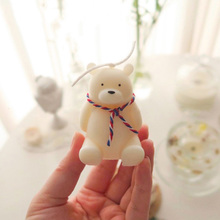 Candle Silicone Mold Decoration-Tool Plaster-Crafts Animals Handmade Bear-Shape Wax Cute
