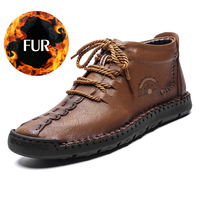 High Quality Men Casual High Top Shoes Men Genuine Leather Shoes Men Luxury Loafers moccasins Lace Up Shoes Big Size