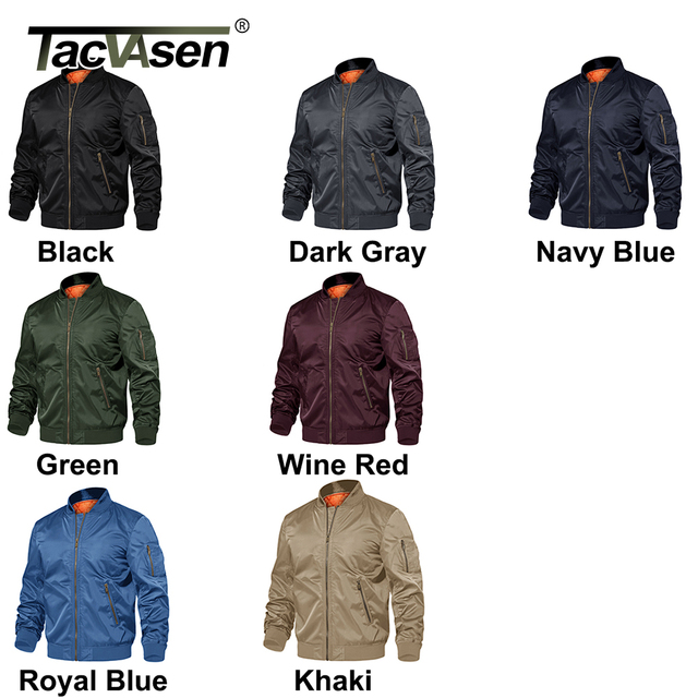 TACVASEN Winter Military Jacket Outwear Mens Cotton Padded Pilot Army Bomber Jacket Coat Casual Baseball Jackets Varsity Jackets 6