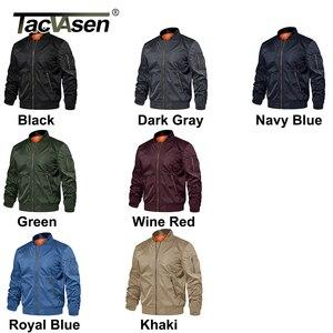 Image 5 - TACVASEN kış askeri ceket dış giyim erkekler pamuk yastıklı Pilot ordu bombacı ceket ceket rahat beyzbol ceketleri üniversite ceketleri