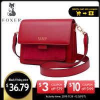 FOXER para mujer, bandolera, bolso de hombro, bolso para mujer, con solapa, bolso de mensajero para mujer, regalo del Día de San Valentín