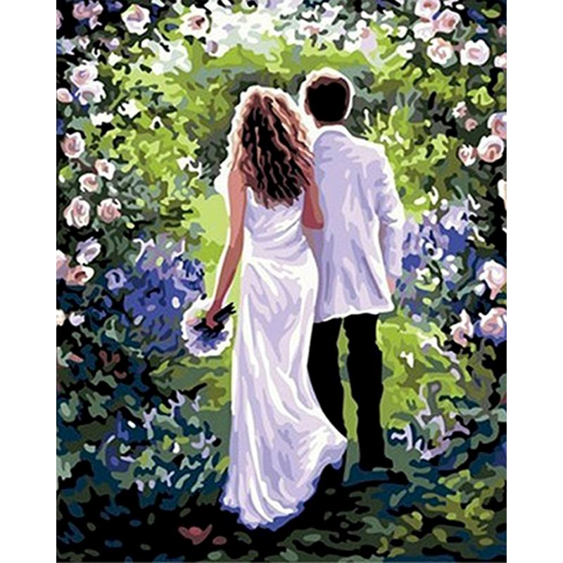 Diy oil Paintings by numbers Beautiful Painting marriage acrylic paints Modern Wall Art Canvas Painting Unique Gift Home Decor-0