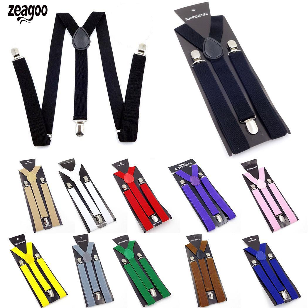 Unisex Casual Elastic Adjustable Y-shape Suspenders Shape, Pants 2.5cm/0.98inch Back Belt Four Seasons