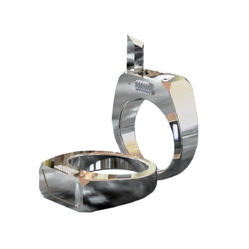 Luxus Titan selbstverteidigung Ring Geformt In Einem Körper Hohe Festigkeit Selbstverteidigung Werkzeug Geschenk An Boy/ mädchen Freund Zu Halten Sie Sicher