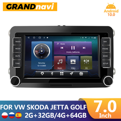 Автомагнитола GRANDnavi, мультимедийный плеер на Android, без DVD, для VW/Volkswagen/Golf/Passat/Touran/Skoda/Octavia/Polo/Seat, типоразмер 2DIN