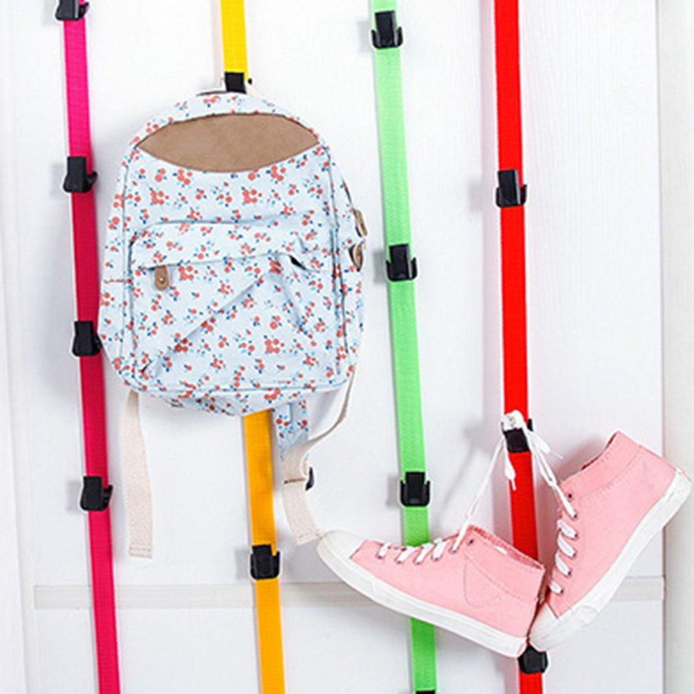 Регулируемая безгвоздная высокопрочная дверная задняя вешалка крюк вешалка для одежды двери многоцелевой крюк ремень ремешок
