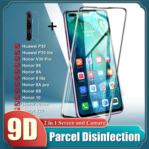 Tempered Glass For Huawei P30 P20 lite Honor 9X 9A 8A Pro 10 9 lite FUll Screen Protector For Honor V20 10i 20i Protective film(China)
