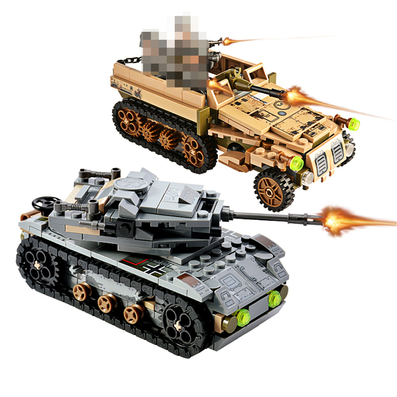 1061PCS Tank Building Blocks Toys Mini figures Vehicle Aircraft Boy Educational Block Military Compatible LegoINGlys Bricks (5)