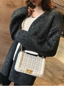 MSGHER Female Bag Fragrance Woolen-Bag Women Handbags High-Quality Lady WB1864 Pearl