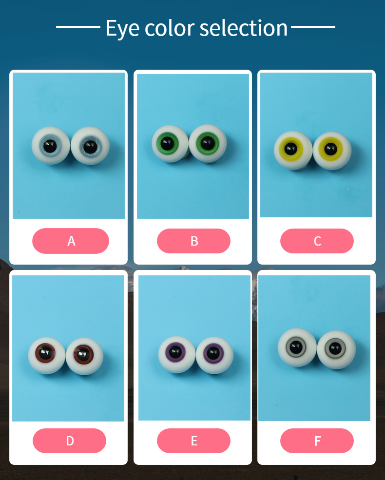 12 MMBJD Doll Glass Eyes Unisex 4points 6 Points And Eight Points