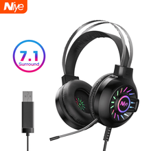 Professional Gaming Headphone Headset Gamer Wired USB PC Com