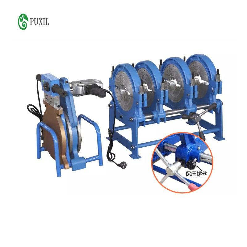 63-200 Manual thrust butt welding machine PE fusion welding machine PE precision hot melting machine butt fusion welder 220V 110