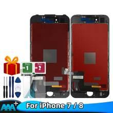Klasy AAA + jakości wyświetlacz LCD dla iPhone 7 8 wyświetlacz LCD ekran wyświetlacz dotykowy LCD 100% testowane robocza LCD + szkło + narzędzia dla 7 8 darmowa wysyłka