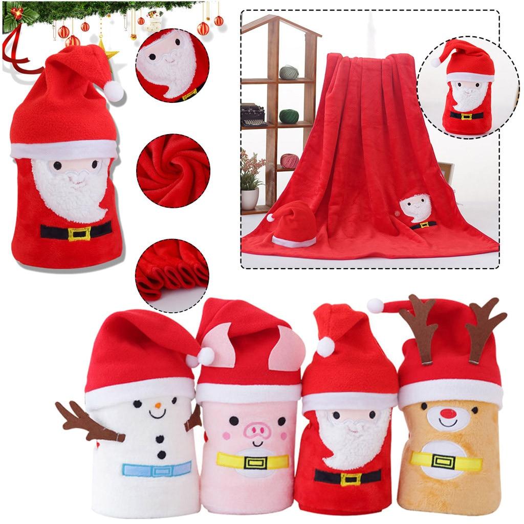 Christmas Gift Cartoon Flannel Blanket