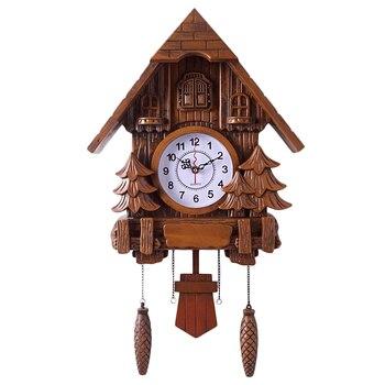 Fashion-Cuckoo Clock Fashion Living Room Wall Clock 20Inch Alarm Clock Swing Pocket Watch Modern Clock