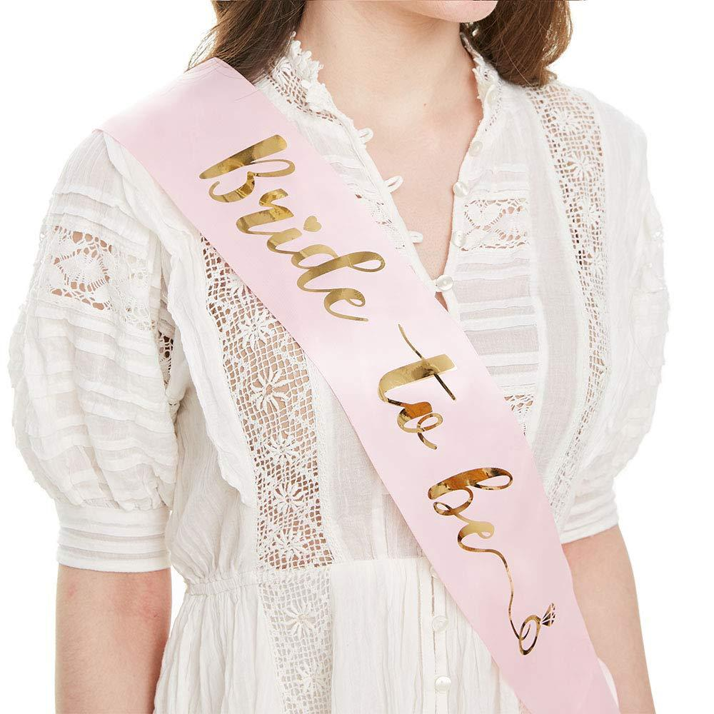 Gold Glitter Bride To Be Satin Ribbon Sash For Wedding Party Bachelorette Party Sash Bridal Shower Decorations Ideas Supplies
